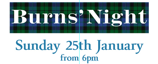 Burns' Night – 25th January