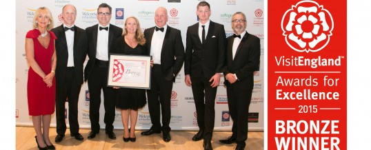 The Pandora Inn wins Bronze at the 2015 VisitEngland Awards for Excellence