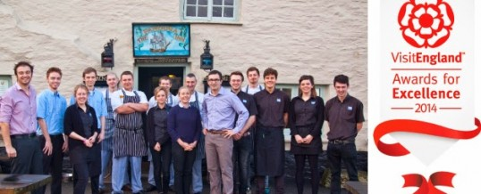 Pandora Inn is finalist in Tourism Pub of the Year in national VisitEngland Awards!